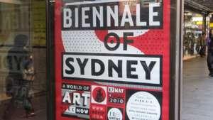 Biennale of Sydney corporate identity. Image: Barnbrook.