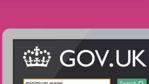 The gov.uk website designed by Ben Terrett