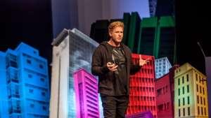 Dean Poole at Design Indaba Conference 2014. Image: Jonx Pillemer.