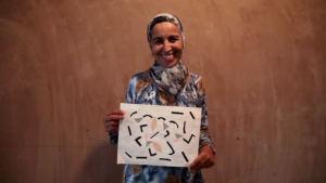 Moroccan weaver's design.