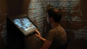 Interface in the story booth at 9/11 Memorial.