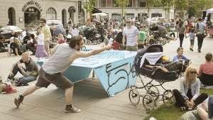 PingOut table in Copenhagen