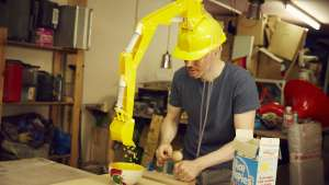 Wilcox's Crane Head Cereal-Serving Device makes pouring cereal more fun.