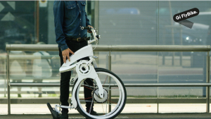 The Gi FlyBike folds in one second with one motion.