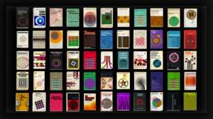 German designer and animator Henning Max Lederer took 55 vintage books and set the cover graphics in motion to achieve psychedelic results.