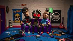 "This chaotic claymation for Radkey's song ""Glore"" is explosive and packed with references to pop culture."