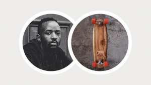 Longboard skater and shaper Kent Lingeveldt tries to keep his boards simple and functional. His board has been nominated for MBOISA by Creative Nestlings' Dillion Phiri