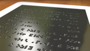 Researchers are trying to make braille more accessible by using a pneumatic display.