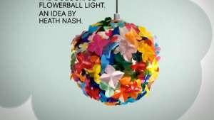 Flowerball light by Heath Nash