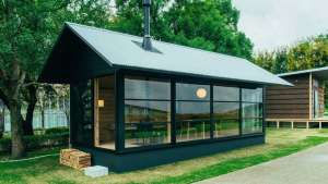 Muji launches three little prefab-houses. Image: MUJI Huts